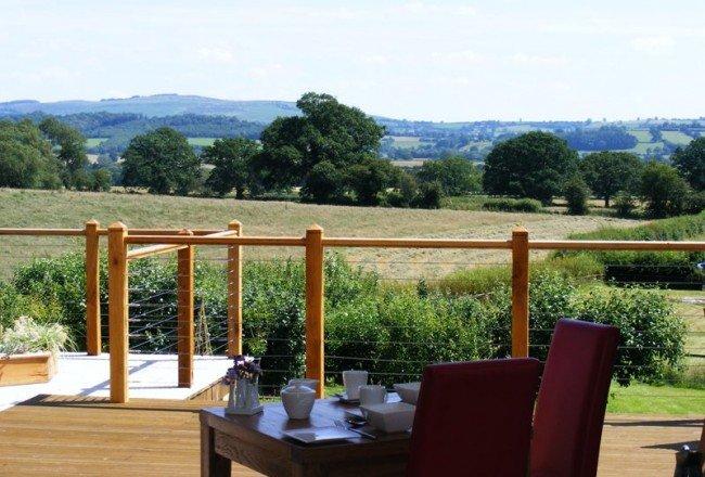 Garden view at Shropshire Hills