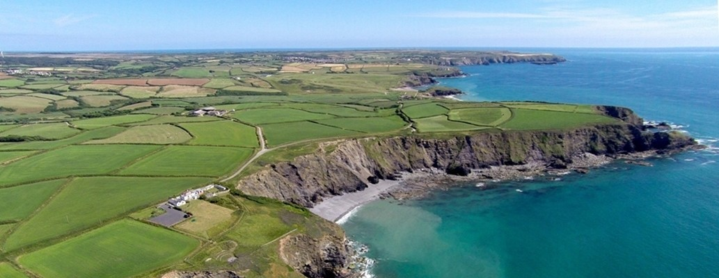 Aerial view of the South Coast, Cornwall