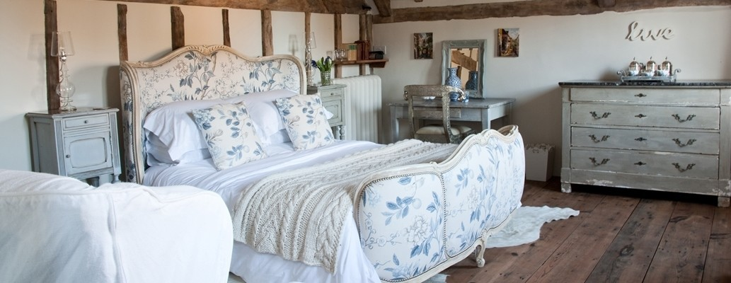 Luxury bedroom suite in country farmhouse