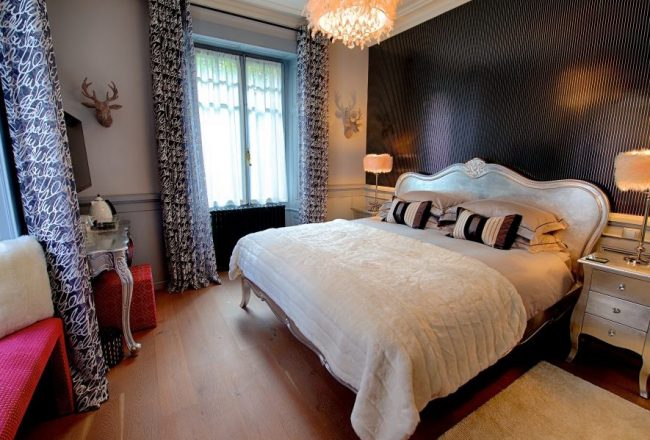 Luxurious bedoom in boutique bed and breakfast suite