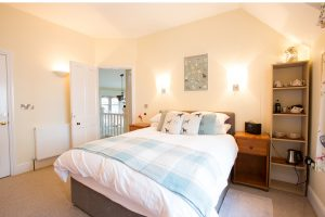 Bed viewed from right – A perfect night's sleep in the Westleigh, Devon