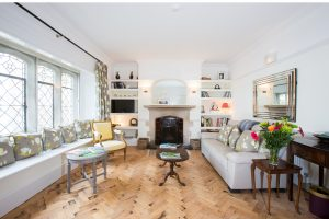 Sitting room – Relax in front of a roaring log fire in Westleigh, Devon