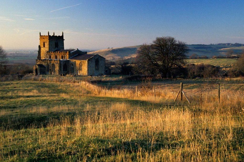 House in open fields