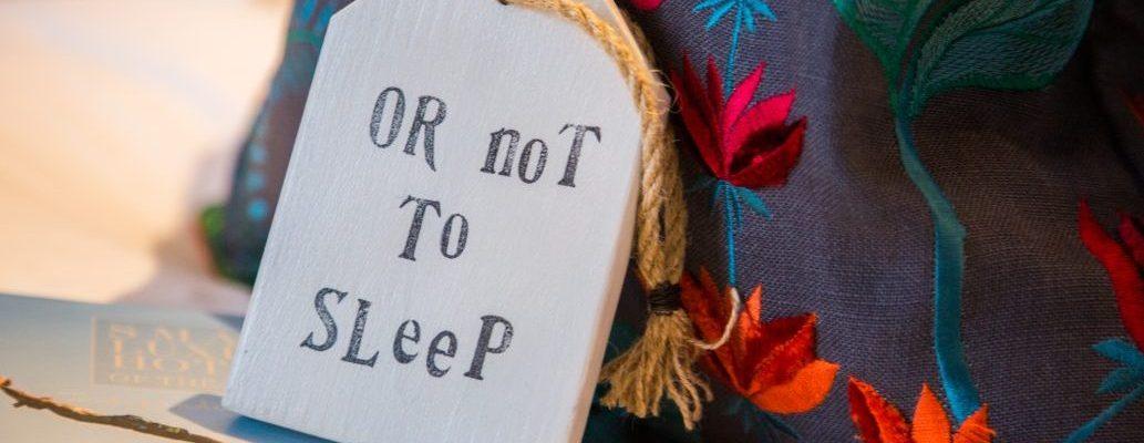 Sleep sign on bedrrom pillow
