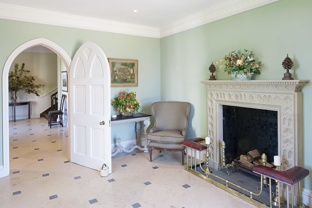 The welcoming Entrance Hall at Combermere Abbey