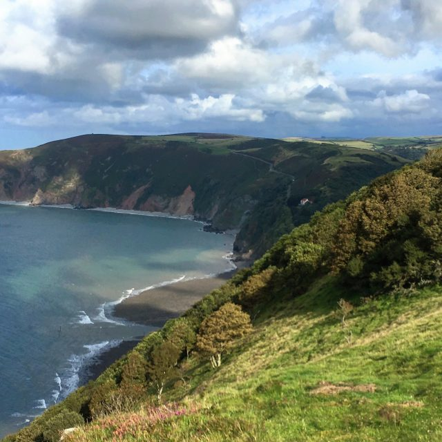 View across Lynton, North Devon