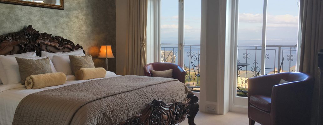 Luxury bedroom with view