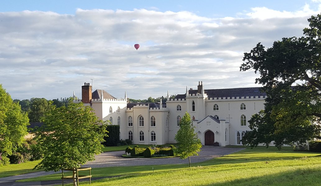 Stunning views of Combermere Abbey's North Wing