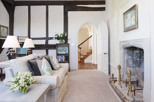 Spend time in the light and airy Tudor lounge