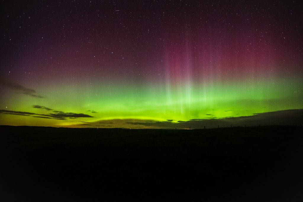 Northern Lights seen from Northumberland